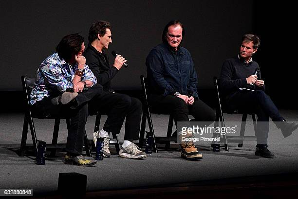 Michael Madsen Lawrence Bender Quentin Tarantino and Sundance Film Festival Senior Programmer John Nein speak at the 'Reservoir Dogs' 25th...