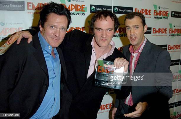 Michael Madsen, Quentin Tarantino, winner 2005 Sony Ericsson Empire Icon of the Decade, and Johnny Vaughn