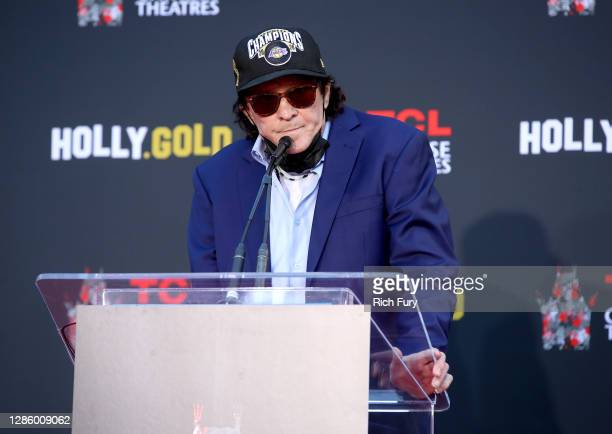 Michael Madsen speaks at the Hand and Footprint Ceremony for Michael Madsen at TCL Chinese Theatre on November 16, 2020 in Hollywood, California.