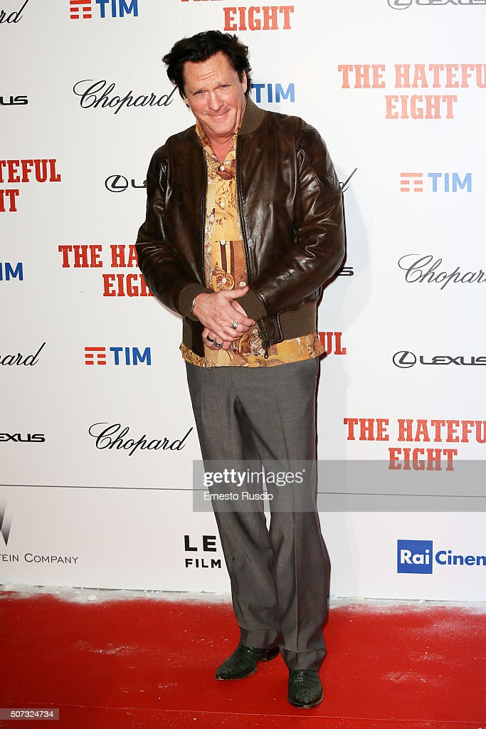 Michael Madsen walks the red carpet for 'The Hateful Eight' premiere on January 28, 2016 in Rome, Italy.
