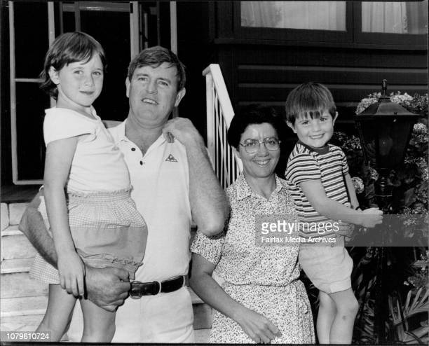 Michael Maher Labour candidate for Lowe with his wife Margaret and their two youngest children Fidelma in Michaels arms and Anthony February 1 1982