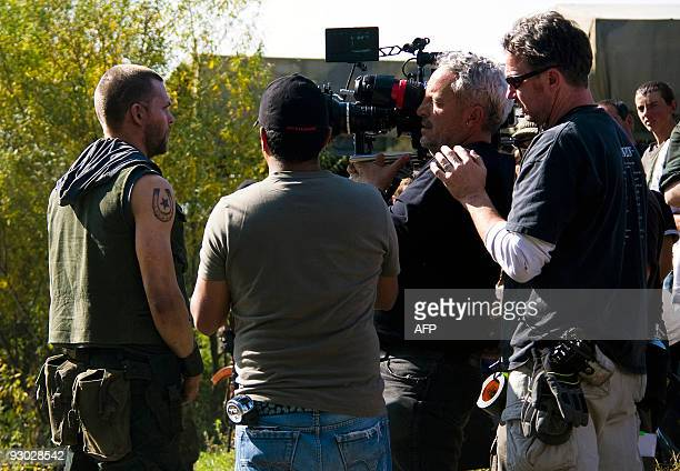 Michael MAINVILLE Actors film a scene for a Hollywood film about the August 2008 GeorgiaRussia war in Tsalka on October 6 2009 Buzzing with...