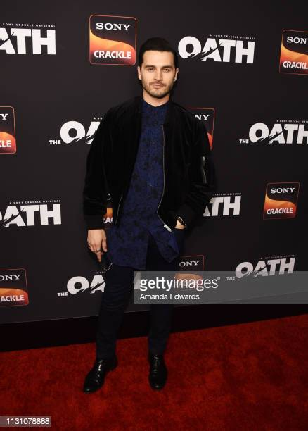 Michael Malarkey arrives at Sony Crackle's 'The Oath' Season 2 exclusive screening event at Paloma on February 20 2019 in Los Angeles California