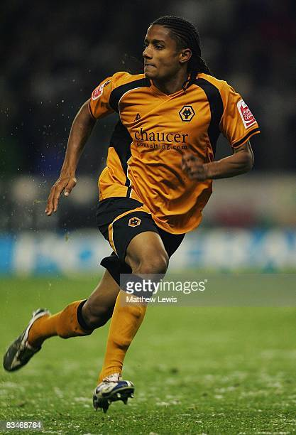 Michael Mancienne of Wolverhampton Wanderers in action during the CocaCola Championship match between Wolverhampton Wanderers and Swansea City at...