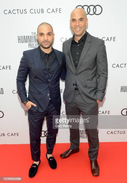 Michael Mando and Kim Nguyen attend the Cactus Club Cafe and Audi Celebrate 'The Hummingbird Project' Starring Salma Hayek Jesse Eisenberg and...