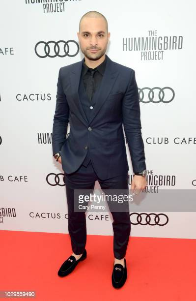 Michael Mando attends the Cactus Club Cafe and Audi Celebrate 'The Hummingbird Project' Starring Salma Hayek Jesse Eisenberg and Alexander Skarsgard...