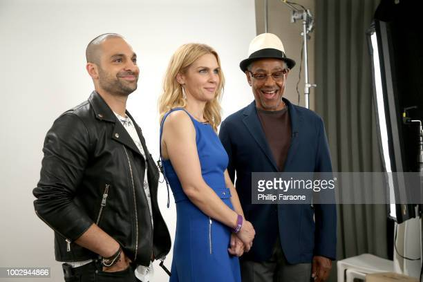 Michael Mando Rhea Seehorn and Giancarlo Esposito of 'Better Call Saul' attend the 2018 WIRED Cafe at Comic Con presented by ATT Audience Network at...
