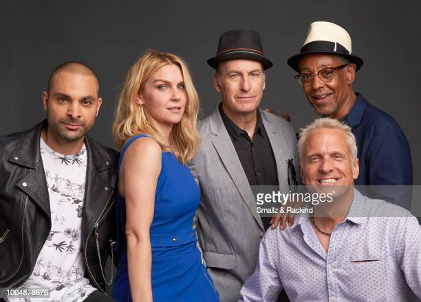 Michael Mando Rhea Seehorn Bob Odenkirk Patrick Fabian and Giancarlo Esposito from AMC's 'Better Call Saul' poses for a portrait in the Getty Images...