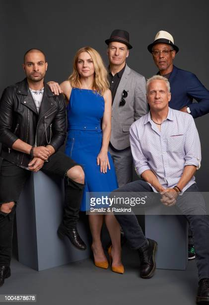 Michael Mando Rhea Seehorn Bob Odenkirk Patrick Fabian and Giancarlo Esposito from AMC's 'Better Call Saul' pose for a portrait in the Getty Images...