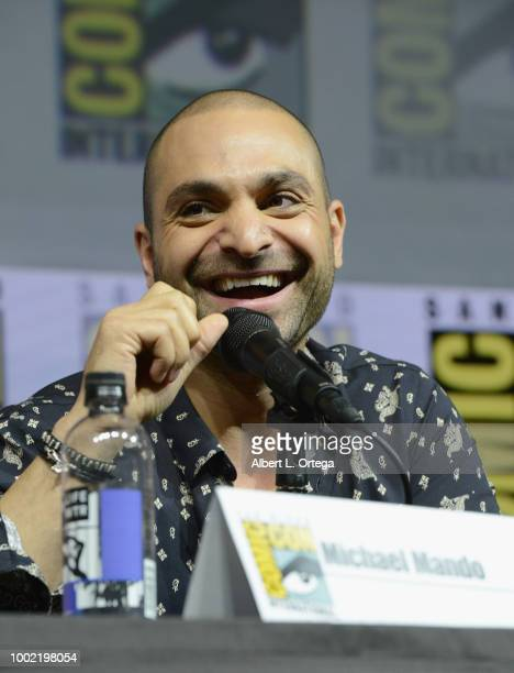 Michael Mando speaks onstage during AMC's 'Better Call Saul' during ComicCon International 2018 at San Diego Convention Center on July 19 2018 in San...