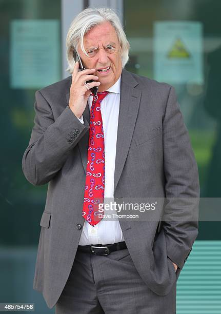 Michael Mansfield QC who represents 76 of the families stands outside the Hillsborough Inquest at the specially adapted office building in Birchwood...