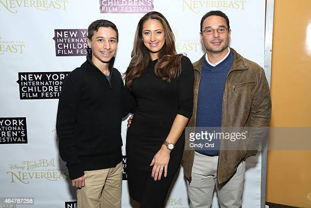 Michael Marchese, Amber Marchese and James Marchese attend Disneys 'Tinker Bell and the Legend of the NeverBeast' NYICFF Special Screening at SVA...