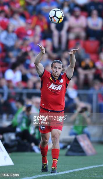 Michael Marrone of Adelaide United during the round 16 ALeague match between Adelaide United and Sydney FC at Coopers Stadium on January 14 2018 in...