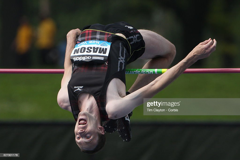 Michael Mason, Canada, in action in the Men's High Jump during the Diamond  League