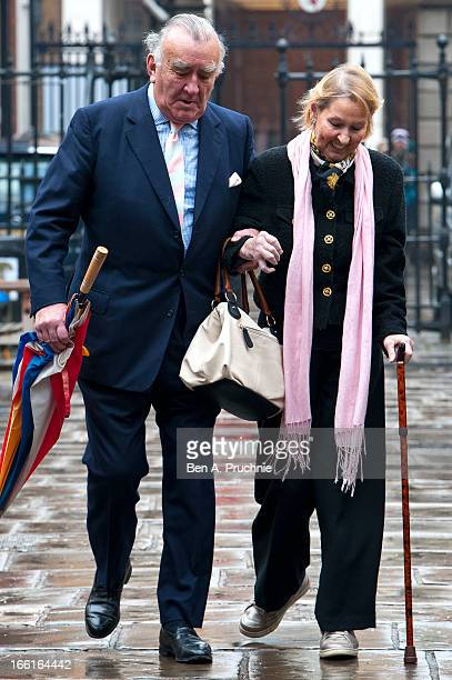 Michael Mates attends a memorial for Dinah Sheridan an actress who starred in 'The Railway Children' at St Paul's Church on April 9 2013 in London...