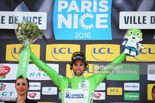 Michael Mathews of Australia and Orica GreenEDGE took the green points jersey following stage 7 of the 2016 ParisNice the final stage of 134km...