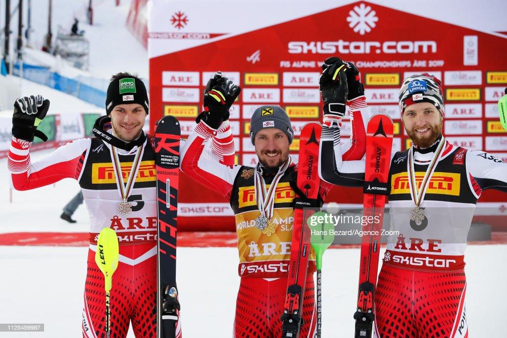 FIS World Ski Championships - Men's Slalom : News Photo