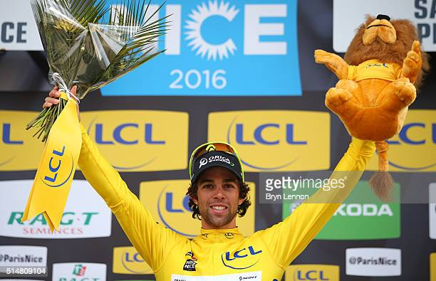 Michael Matthews of Australia and Orica GreenEDGE retains the yellow jersey following Stage 5 of the 2016 ParisNice a 198km road stage from...