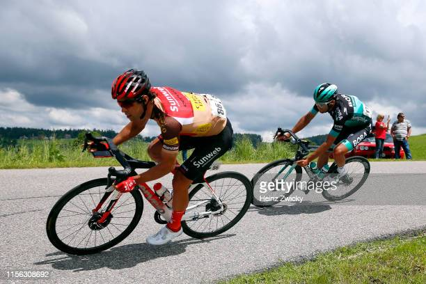 Michael Matthews of Australia and Team Sunweb King of Mountain Jersey / Andreas Schillinger of Germany and Team BoraHansgrohe / during the 83rd Tour...