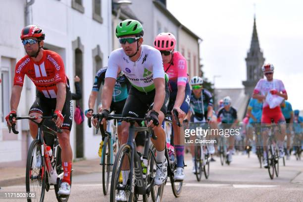 Michael Matthews of Australia and Team Sunweb / Ryan Gibbons of South Africa and Team Dimension Data / Julius Van Den Berg of The Netherlands and...