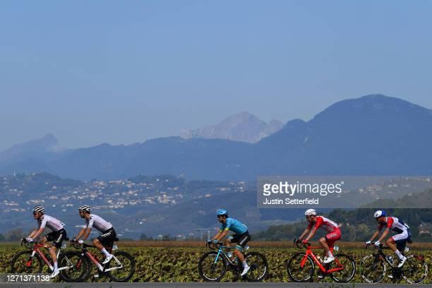 Michael Matthews of Australia and Team Sunweb / Sam Oomen of The Netherlands and Team Sunweb / Fabio Felline of Italy and Astana Pro Team / Kenneth...