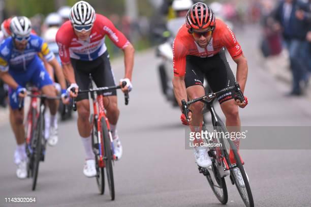 Michael Matthews of Australia and Team Sunweb / Tim Wellens of Belgium and Team Lotto Soudal / Julian Alaphilippe of France and Team Deceuninck...