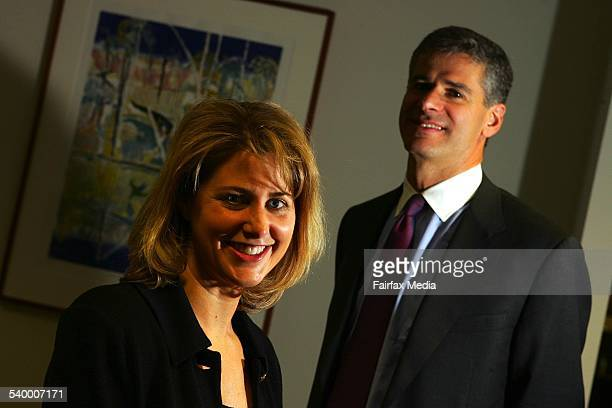 Michael Mauboussin right and Mary Chris Gay of Legg Mason Asset Management 3 August 2006 AFR Picture by JAMES DAVIES