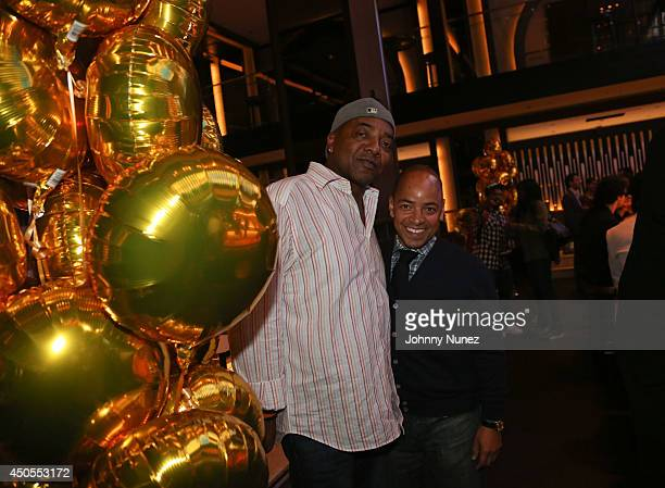 Michael Mauldin and Derek Dudley attend the Go N'Syde 40/40 Bottle Launch Party at the 40 / 40 Club on June 12 2014 in New York City