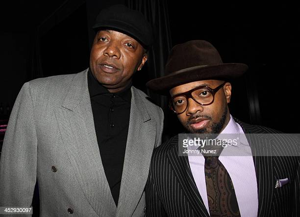 Michael Mauldin and Jermaine Dupri attend Bryan Michael Cox Tyrone Davis' birthday celebration hosted by Ocean's Seven SESAC at the W Hotel Midtown...