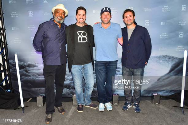 Michael Mauldin Chief Creative Officer and Cofounder Curtis Hickman Laurent Potdevin and Jamie Apostolou celebrate The VOID grand opening at The...