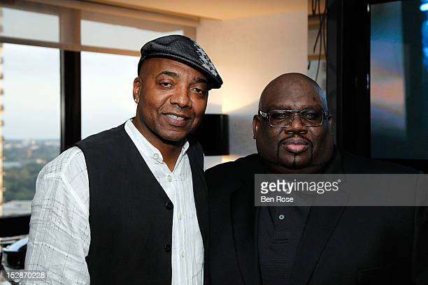 Michael Mauldin president Mauldin Brand Agency and Reggie Rouse VP of Urban Programming CBS Radio attend an exclusive Power Players Dinner hosted by...