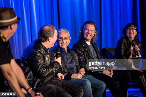 Michael Mayhew Danny Gold George Shapiro Terry Wollman and Aimee Hyatt speak at The GRAMMY Museum on January 18 2018 in Los Angeles California