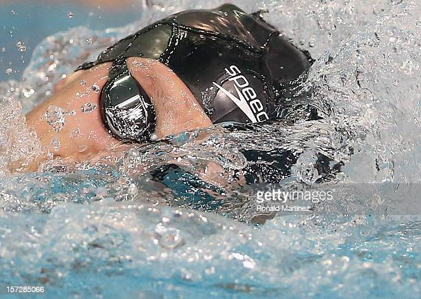 Michael McBroom swims in the Men's 1650 Freestyle during day three of the 2012 ATT Winter National Championships on December 1 2012 at the Lee and...