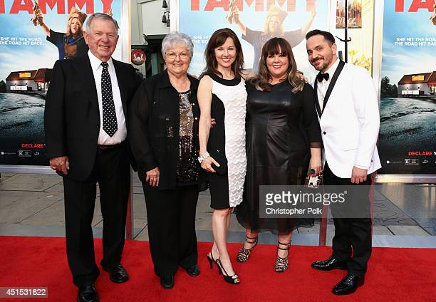 Michael McCarthy Sandra McCarthy Margie McCarthy filmmakers Melissa McCarthy and Ben Falcone attend the Tammy Los Angeles premiere at TCL Chinese...
