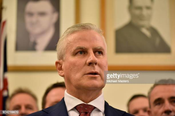 Michael McCormack is elected as the Leader of The Nationals and will become the Deputy Prime Minister of Australia on February 26 2018 in Canberra...