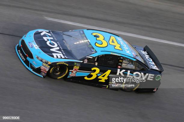 Michael McDowell driver of the KLove Radio Ford during the Coke Zero 400 Monster Energy Cup Series race on July 7 at Daytona International Speedway...
