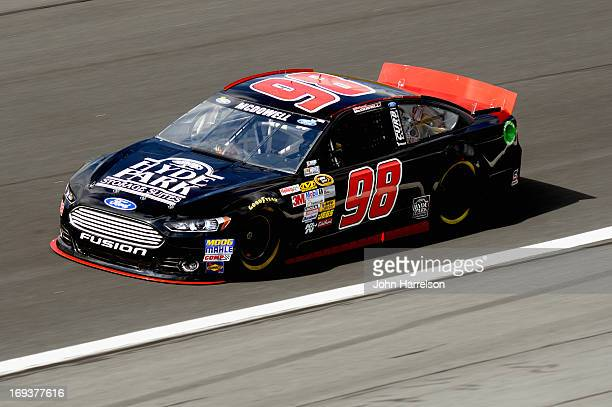 Michael McDowell drives the Phil Parsons Racing Ford during practice for the NASCAR Sprint Cup Series CocaCola 600 at Charlotte Motor Speedway on May...