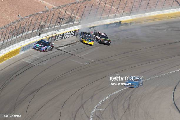 Michael McDowell Front Row Motorsports Ford Fusion David Ragan Front Row Motorsports Ford Fusion and Kurt Busch Monster Energy StewartHaas Racing...