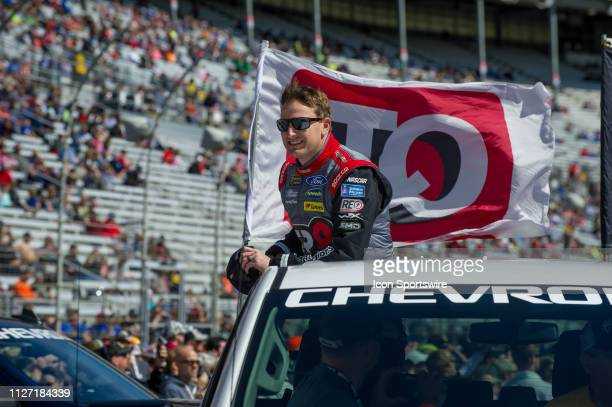 Michael McDowell, Front Row Motorsports, Ford Mustang FR8 Auctions before the Folds of Honor QuikTrip 500 Monster Energy NASCAR Cup Series race on...