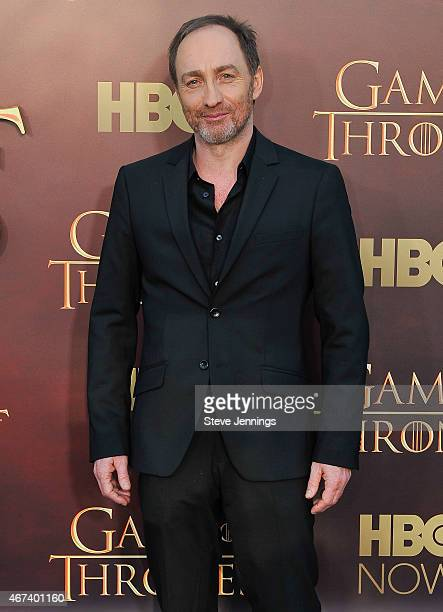 Michael McElhatton attends HBO's 'Game Of Thrones' Season 5 San Francisco Premiere at San Francisco Opera House on March 23 2015 in San Francisco...