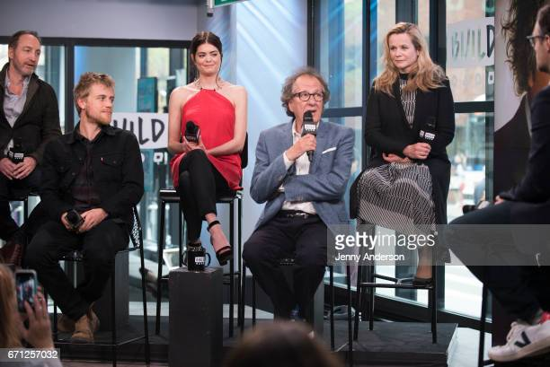 Michael McElhatton Johnny Flynn Samantha Colley Geoffrey Rush and Emily Watson attend AOL Build Series to discuss their new series 'Genius' at Build...