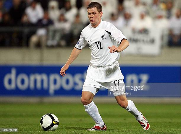 Michael McGlinchey of the All Whites attacks during the FIFA World Cup Asian Qualifying match between New Zealand and Bahrain at Westpac Stadium on...