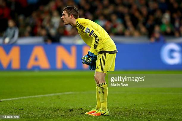 Michael McGovern, goalkeeper of Northern Ireland looks on during the FIFA 2018 World Cup Qualifier Group C match between Germany and Northern Ireland...