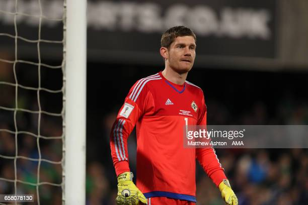 Michael McGovern of Northern Ireland during the FIFA 2018 World Cup Qualifier between Northern Ireland and Norway at Windsor Park on March 26, 2017...