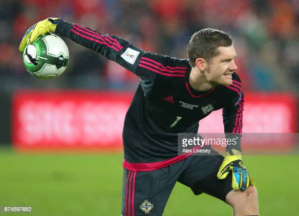Michael McGovern of Northern Ireland during the FIFA 2018 World Cup Qualifier Play-Off second leg match between Switzerland and Northern Ireland at...