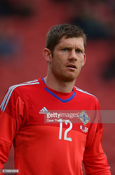 Michael McGovern of Northern Ireland during the International friendly match between Northern Ireland and Qatar at The Alexandra Stadium on May 31,...