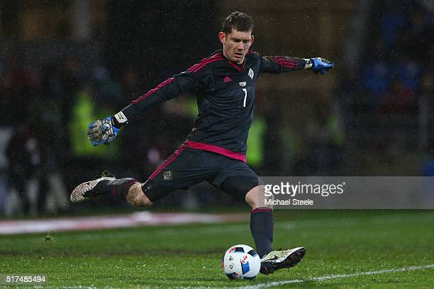 Michael McGovern of Northern Ireland during the International Friendly match between Wales and Northern Ireland at Cardiff City Stadium on March 24,...