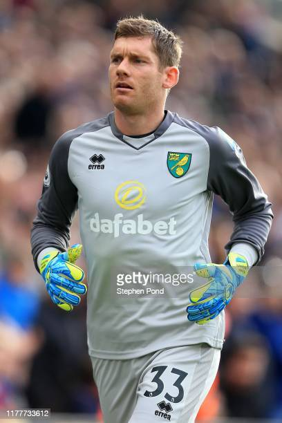 Michael McGovern of Norwich City during the Premier League match between Crystal Palace and Norwich City at Selhurst Park on September 28, 2019 in...