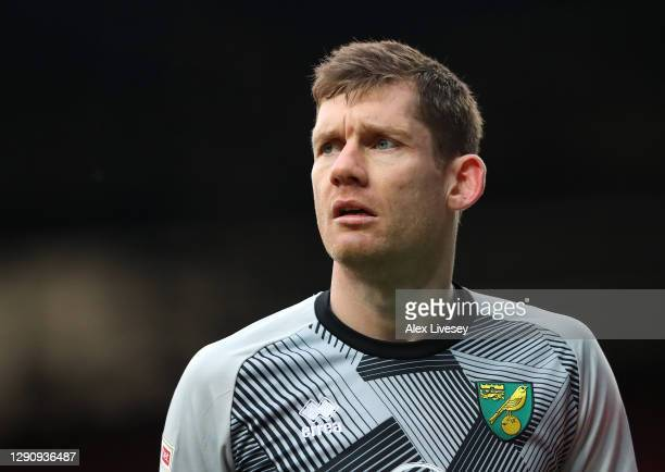 Michael McGovern of Norwich City looks on during the Sky Bet Championship match between Blackburn Rovers and Norwich City at Ewood Park on December...
