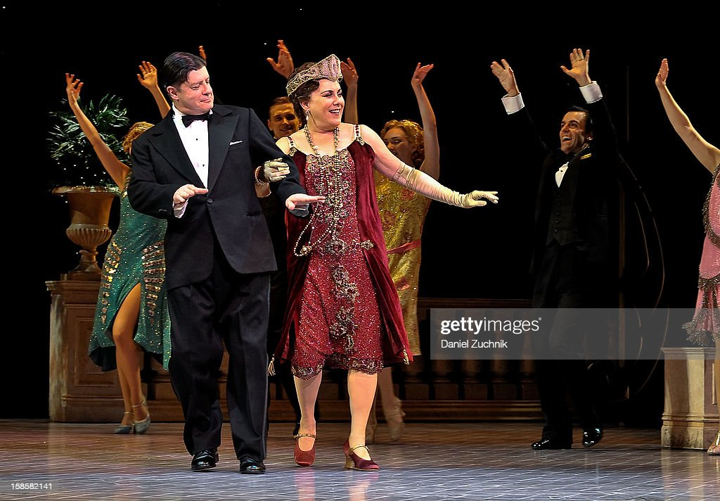 Michael McGrath and Judy Kaye attend the 'Nice Work If You Can Get It' Broadway curtain call at Imperial Theatre on December 19, 2012 in New York City.